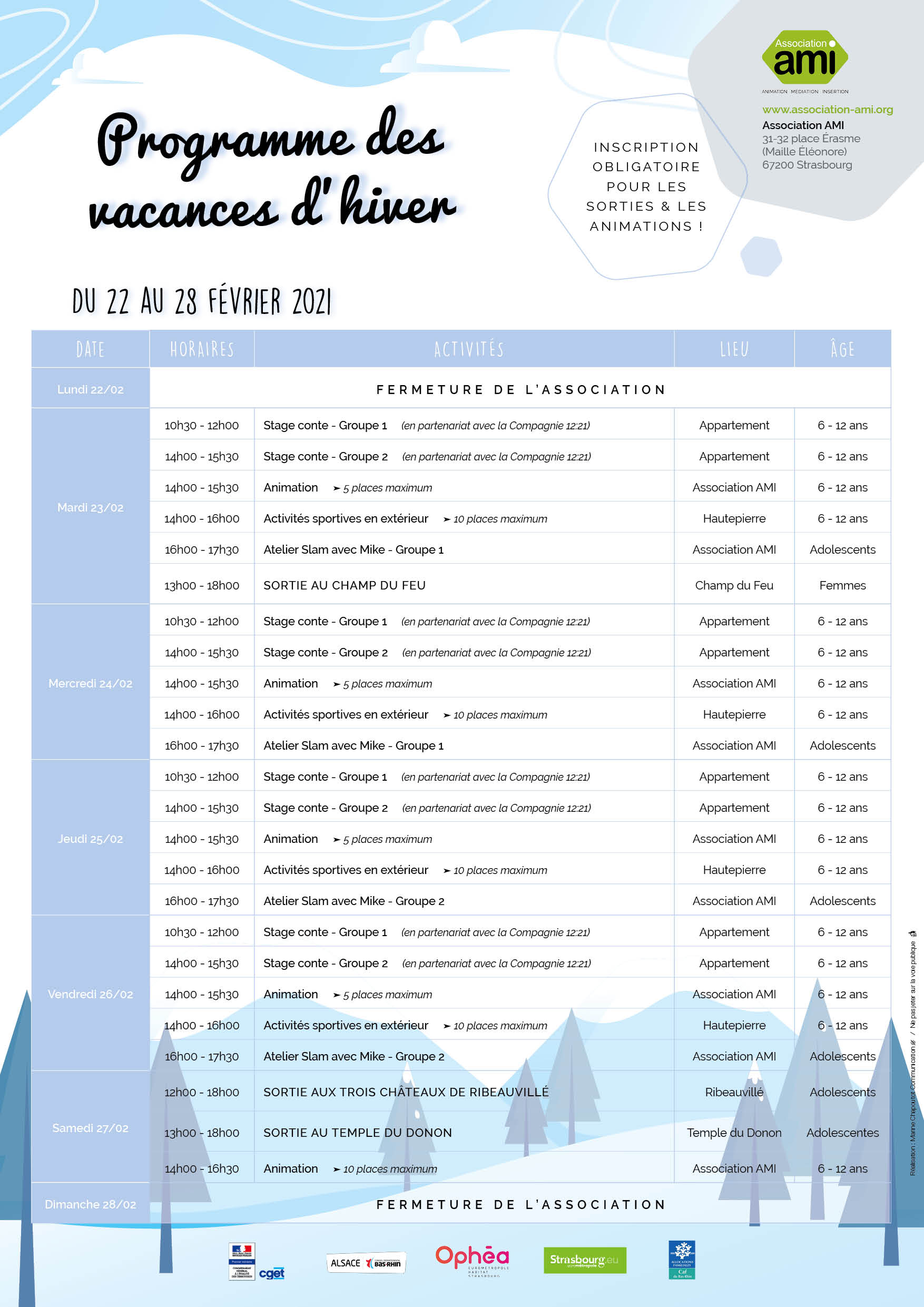 Programme Hiver 2021 S8