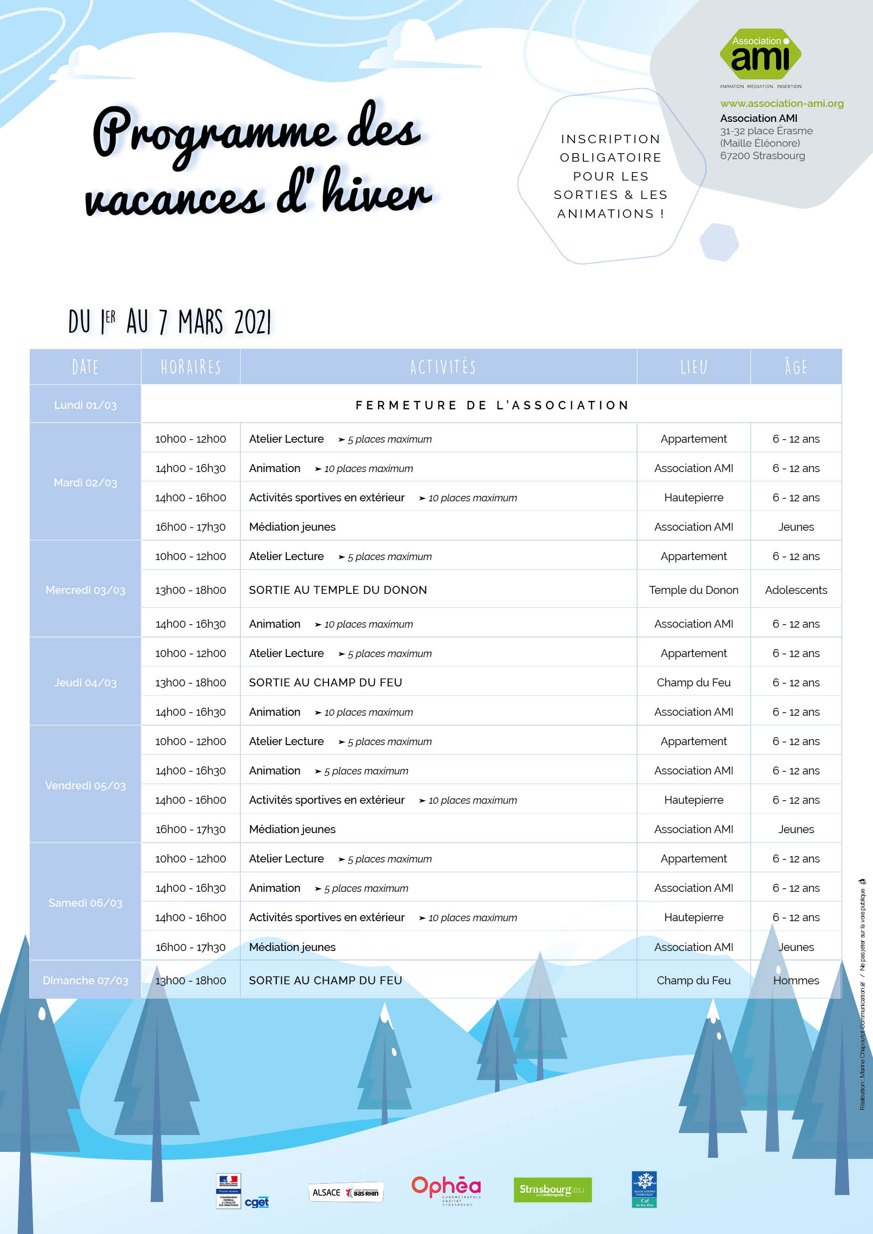 Programme Hiver 2021 S9